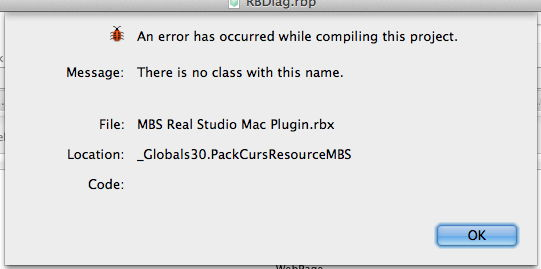 MBS Blog - Error with Real Studio 2012r2 and older plugins